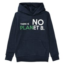 Recycling Hoodie mit Statement-Wording - Navy