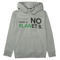 Recycling Hoodie mit Statement-Wording - Grey Melange