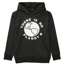 Recycling Hoodie mit Statement-Print - Black