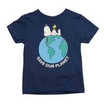 ORGANIC COTTON T-Shirt OUR PLANET - Dark Tinte