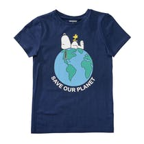 ORGANIC COTTON T-Shirt PLANET - Dark Tinte