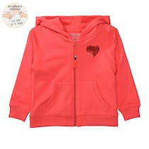 WENDEPAILLETTEN Kapuzensweatjacke - Red