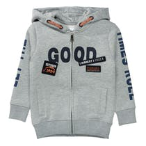 Kapuzensweatjacke GOOD TIMES - Grey Melange