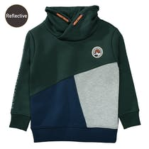 Sweatshirt mit Colour-Blocking - Pine Green
