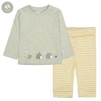 ORGANIC COTTON Pyjama 2-Teilig - Soft Stone Melange