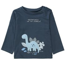 Langarmshirt DINO - Washed Blue