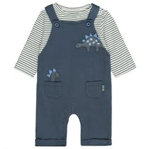 ORGANIC COTTON Strampler mit Shirt Dino - Washed Blue