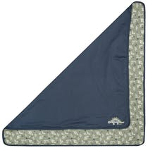 ORGANIC COTTON Decke Dino - Washed Blue