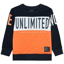 Sweatshirt mit Colour-Blocking-Design - Orange