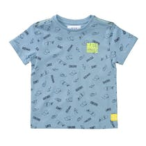 T-Shirt SKATE IT Slim Fit - Light Blue