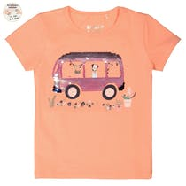WENDEPAILLETTEN T-Shirt - Light Orange