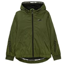 Outdoorjacke mit Wording - Olive