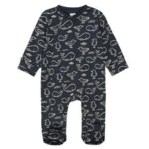 ORGANIC COTTON Pyjama mit Allover-Print - Marine