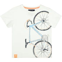 T-Shirt mit Print SLIM FIT - Offwhite