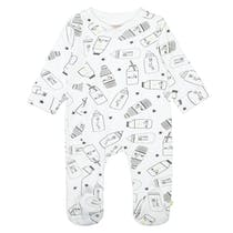 ORGANIC COTTON Pyjama mit Allover-Print - White