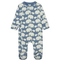 ORGANIC COTTON Pyjama ELEFANT - Soft Jeans Blue