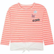 JETTE Sweatshirt 2in1 - Bright Coral Stripes