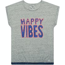 JETTE T-Shirt Happy Vibes - Stone