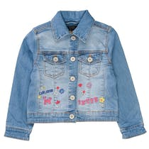 JETTE Jeansjacke mit Label-Stickerei - Mid Blue Denim