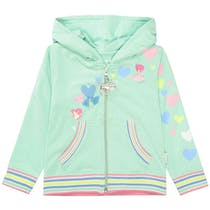JETTE Kapuzensweatjacke LOVE - Mint Green
