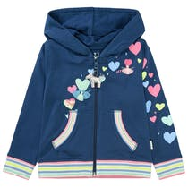 JETTE Kapuzensweatjacke LOVE - Bright Navy