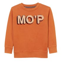 MARC O'POLO Sweatshirt mit Label-Wording - Orange