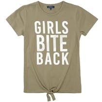 ATTENTION T-Shirt mit Knoten - Khaki