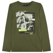 ATTENTION Langarmshirt - Olive